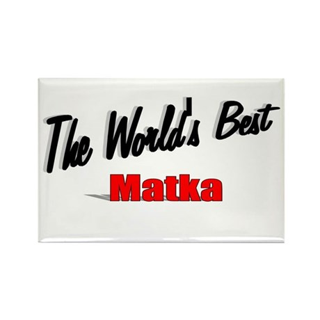 """The World's Best Matka"" Rectangle Magnet"