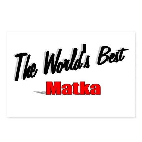 """The World's Best Matka"" Postcards (Package of 8)"