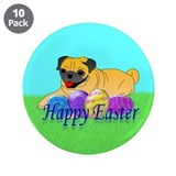 "Fawn Pug 3.5"" Button (10 pack)"