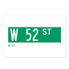 52nd Street in NY Postcards (Package of 8)