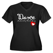Dance Women's Plus Size V-Neck Dark T-Shirt