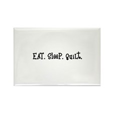 Eat Sleep Quilt Rectangle Magnet (10 pack)