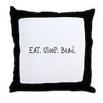 Eat Sleep Bead Throw Pillow
