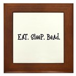 Eat Sleep Bead Framed Tile
