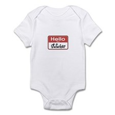 Hello I'm A Stitcher Infant Bodysuit