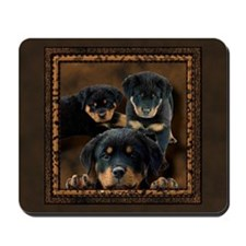 Rottweiler Rottie Puppies Mousepad