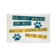 Do Not Breed or Buy Labels Rectangle Magnet (100 p