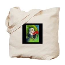 Green Military Macaw Tote Bag