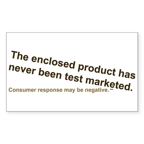 No Test Marketing Rectangle Sticker