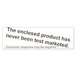 No Test Marketing Bumper Sticker