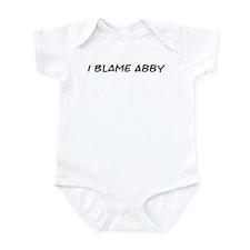 I Blame Abby Infant Bodysuit