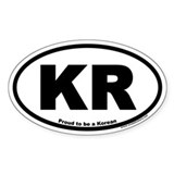 Proud to be a Korean KR Oval Decal