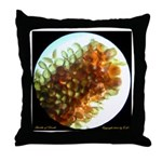 Culex sp. egg raft Throw Pillow