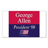 """George Allen for President"" Rectangle Decal"