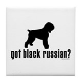 got black russian? Tile Coaster