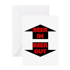 Beer In Beer Out Greeting Card