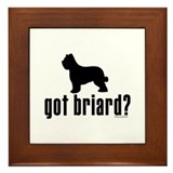 got briard? Framed Tile