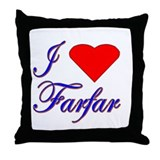 I Love Farfar Throw Pillow