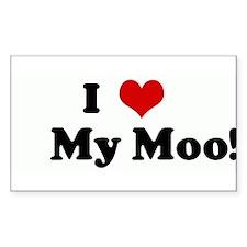 I Love My Moo! Rectangle Decal