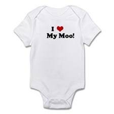 I Love     My Moo! Infant Bodysuit