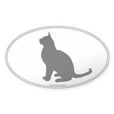 Burmese Silhouette Oval Decal