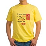 FATHERS A REAL HERO Yellow T-Shirt