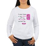 FATHERS A REAL HERO Women's Long Sleeve T-Shirt