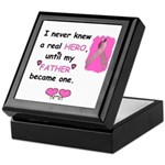 FATHERS A REAL HERO Keepsake Box