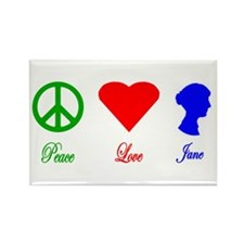 Peace. Love. Jane. Rectangle Magnet (10 pack)