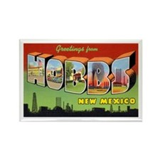 Hobbs New Mexico Greetings Rectangle Magnet