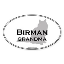 Birman Grandma Oval Decal