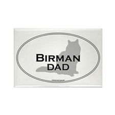 Birman Dad Rectangle Magnet