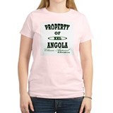 Property Of Angola Classic Women's Pink T-Shirt
