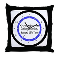 Operating on Second Life Time Throw Pillow