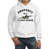 Property US Army Soldier Military Hoodie Sweatshirt