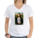 Mona's Maltese (R) Women's V-Neck T-Shirt