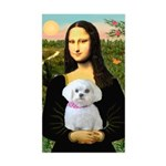 Mona's Maltese (R) Sticker (Rectangle)