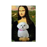 Mona's Maltese (R) Rectangle Magnet