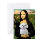 Mona's Maltese (R) Greeting Cards (Pk of 20)