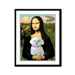 Mona's Maltese (R) Framed Panel Print
