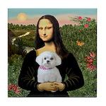 Mona's Maltese (R) Tile Coaster