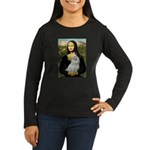 Mona Lisa / Maltese Women's Long Sleeve Dark T-Shi