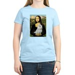 Mona Lisa / Maltese Women's Light T-Shirt