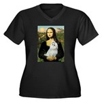 Mona Lisa / Maltese Women's Plus Size V-Neck Dark