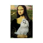 Mona Lisa / Maltese Rectangle Magnet