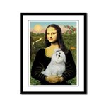 Mona Lisa / Maltese Framed Panel Print