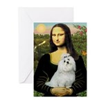 Mona Lisa / Maltese Greeting Cards (Pk of 20)