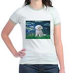 Lilies / Maltese Jr. Ringer T-Shirt