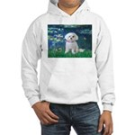 Lilies / Maltese Hooded Sweatshirt