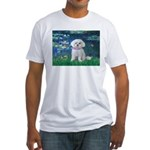 Lilies / Maltese Fitted T-Shirt